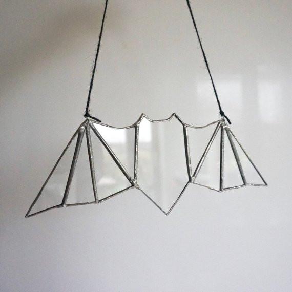 Bat Glass Wall Hanging