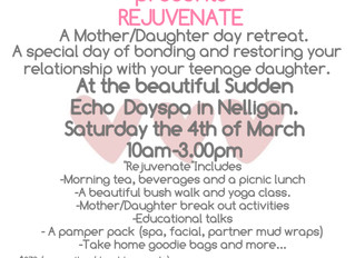 'Rejuvenate' a Mother/Daughter retreat.