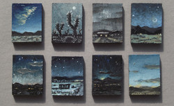 1 inch Paintings Installation (2016)
