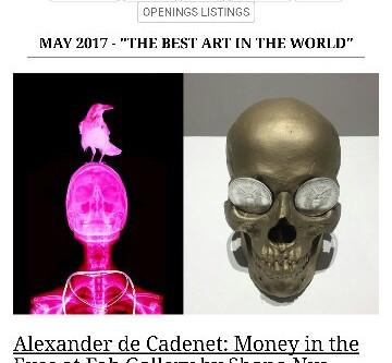 Reviews of 'Money in the Eyes' solo exhibition by Alexander de Cadenet
