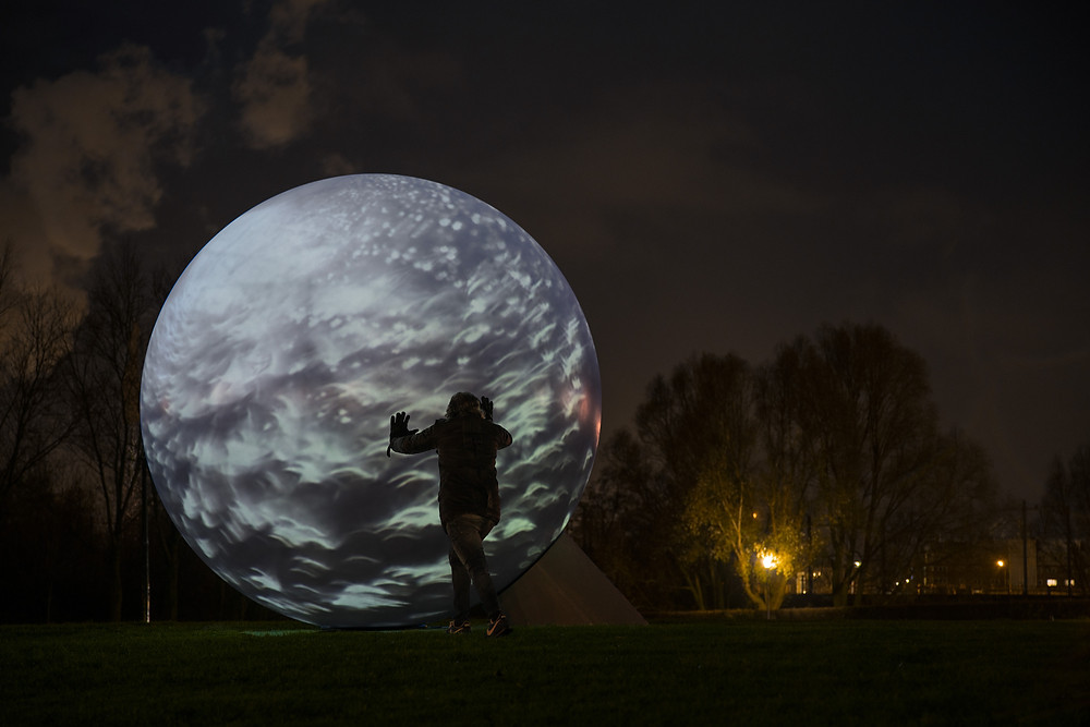 Sphere 3D Installation. Westerpark, Amsterdam
