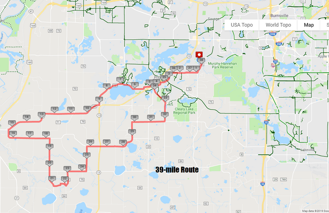 39-mile Route