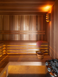 Custom Western Red Cedar Sauna Room