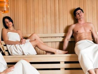 Sauna etiquette . . .