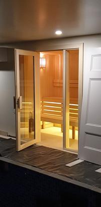 Custom Built Aspen Timber Sauna Front