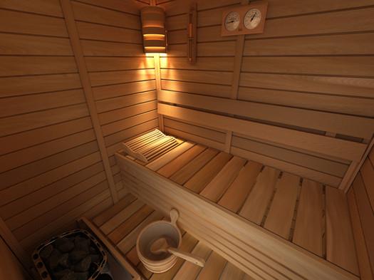 SAWO Sauna Kit Room