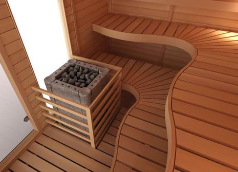 Customised SAWO Kit Sauna