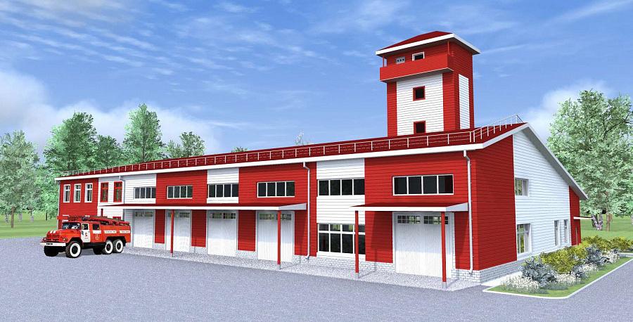 Комплексное здание служб пожарной ох