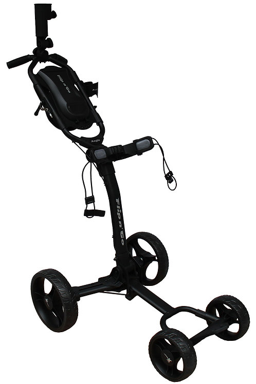 Flip n' Go - Black 4 Wheel Push Cart