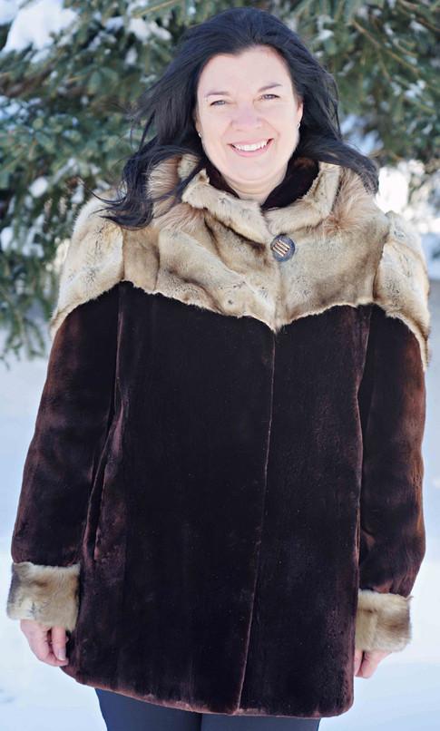 Manteau phoque alaska renard basaris