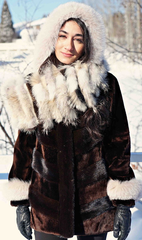 Manteau phoque alaska & vison