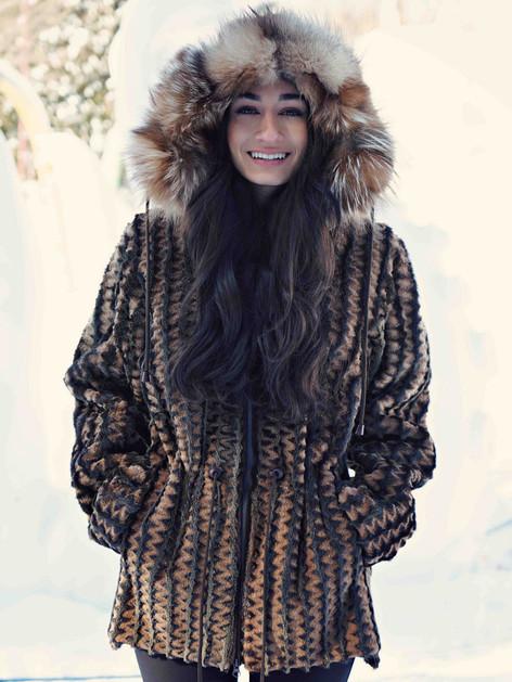 Manteau phoque alaska rasé