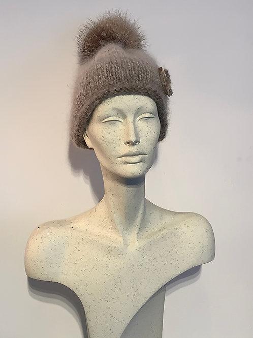 Tuque laine d'Alpaga et Pompon
