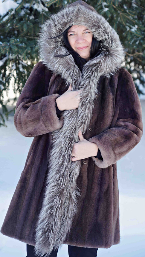 Manteau raton laveur rasé