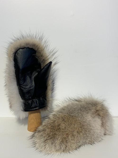 Mitaine de Coyote et cuir