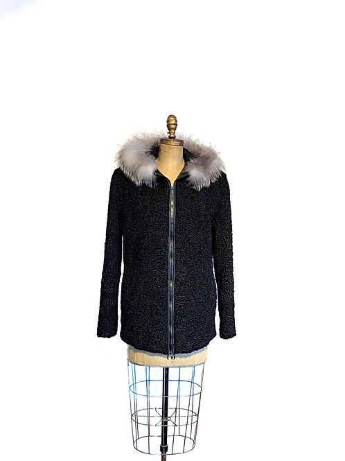 Manteau Mouton de Perse Noir