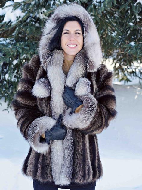 Manteau raton laveur renard