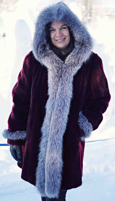 Manteau raton laveur & renard indigo