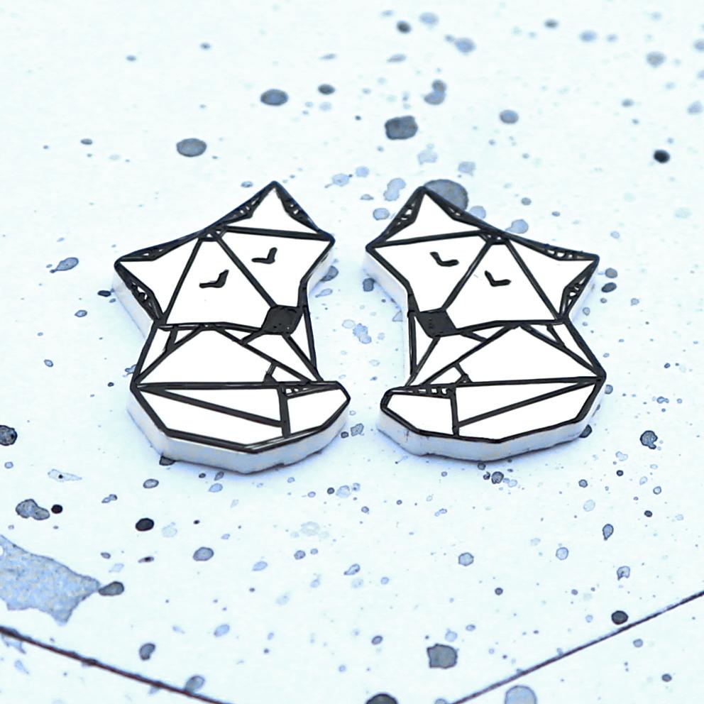 origami lišky - naušnice