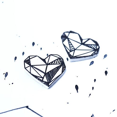 srdce - Naušnice pecky