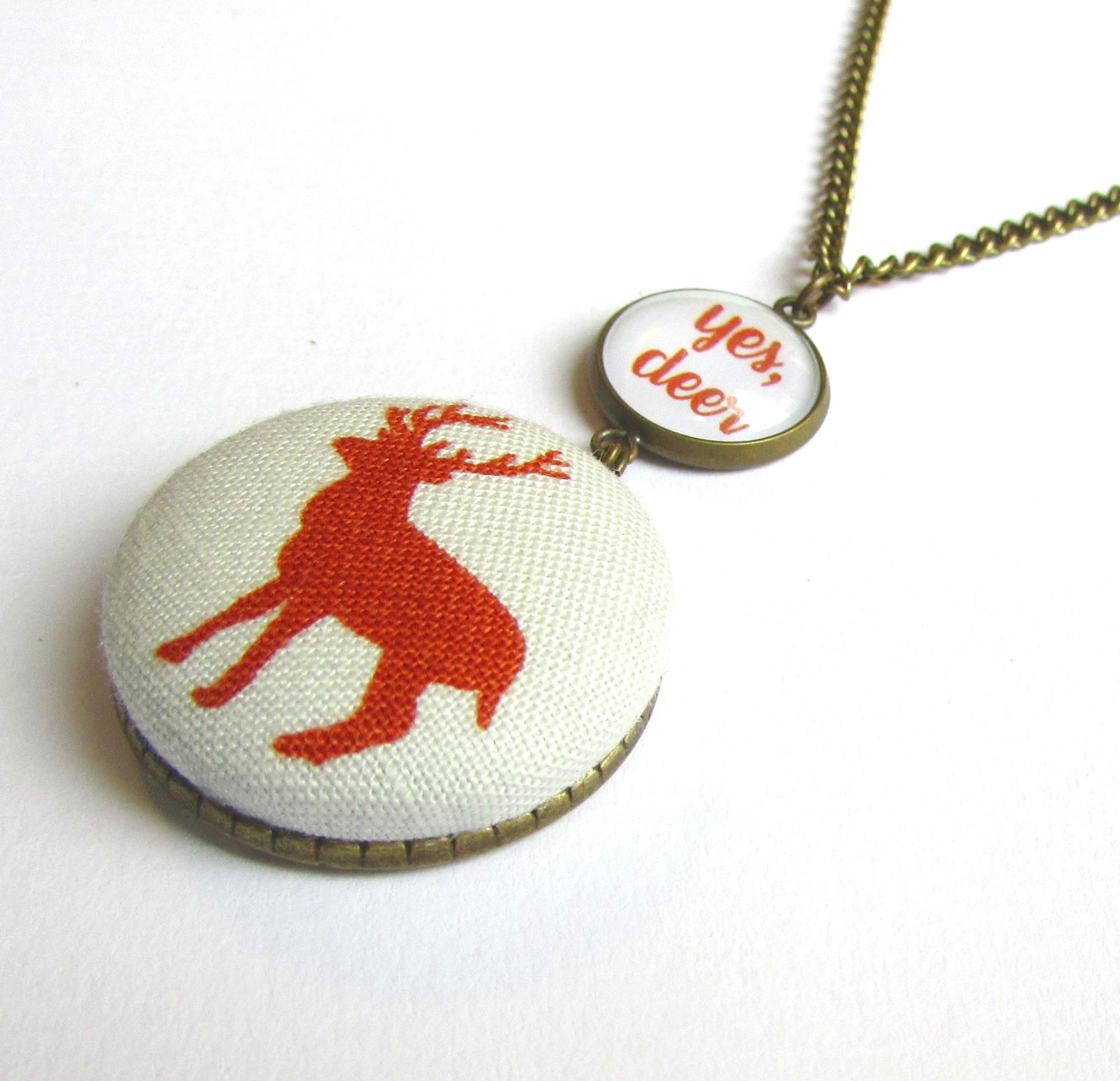 yes deer, kombinovaný přívěšek