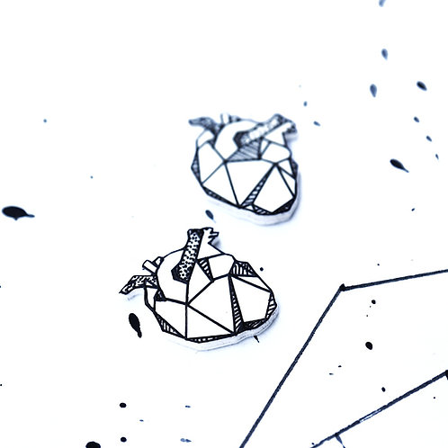 geo srdce - Naušnice pecky