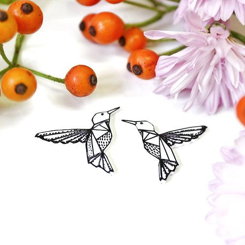 Kolibříci - Naušnice pecky