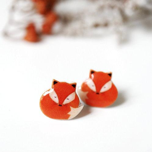 Lišky ryšky- Naušnice pecky