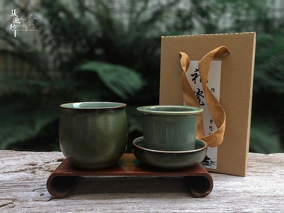綠釉個人茶具組