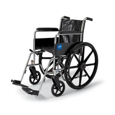 Folding Wheelchair with detachable leg rest