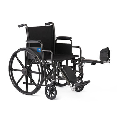 Folding Wheelchair with elevating leg rest