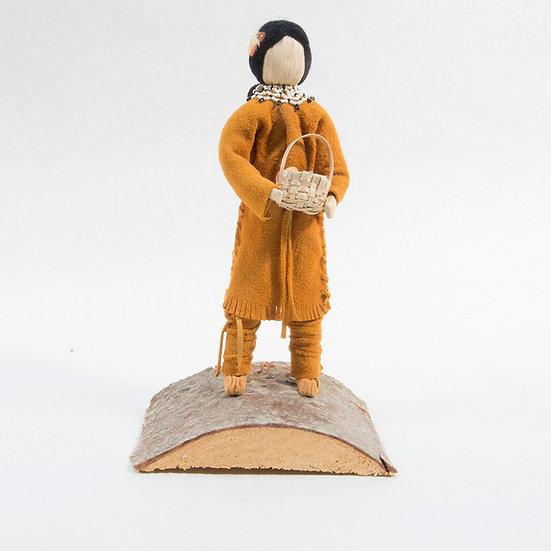Cornhusk Doll Holding Basket (88:139)