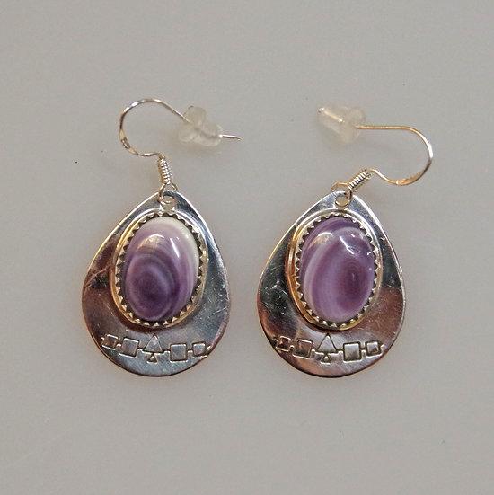Earrings- Sterling Silver and Wampum