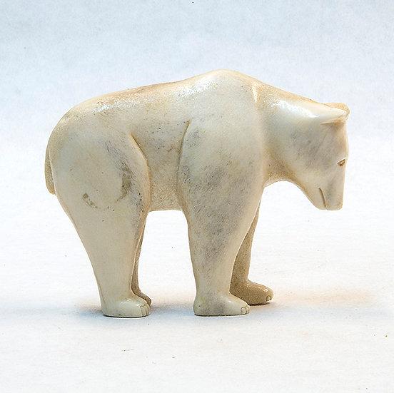 Moose Antler Bear Carving (85:47)