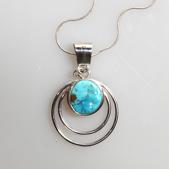 Necklace -Sterling Silver with Turquoise