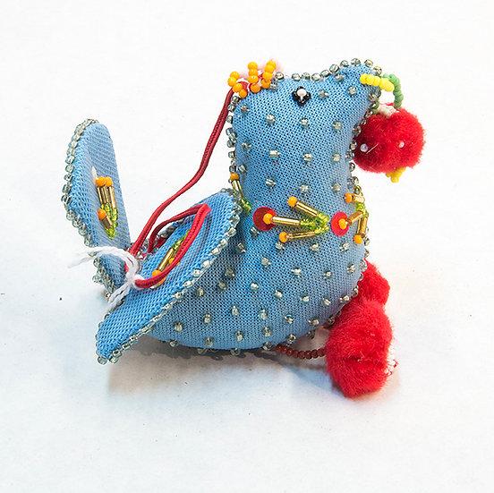 Blue Beadwork Bird from Kanawake (87:24)