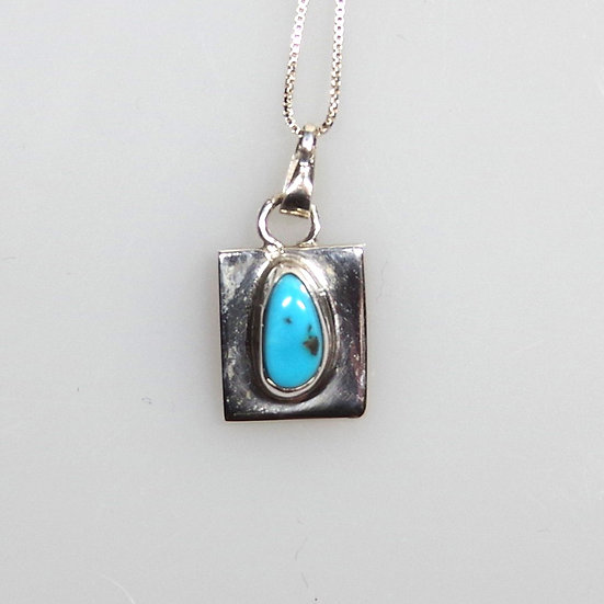 Necklace - Sterling Silver with Turquoise and Opal