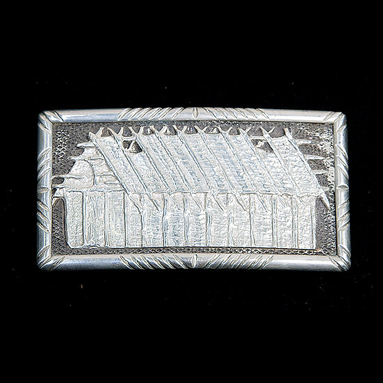 Silver Belt Buckle (95:60)
