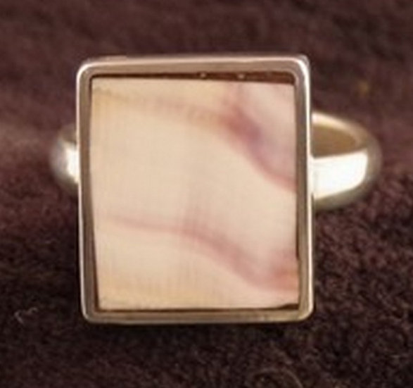 Ring - Sterling Silver and Wampum Shell