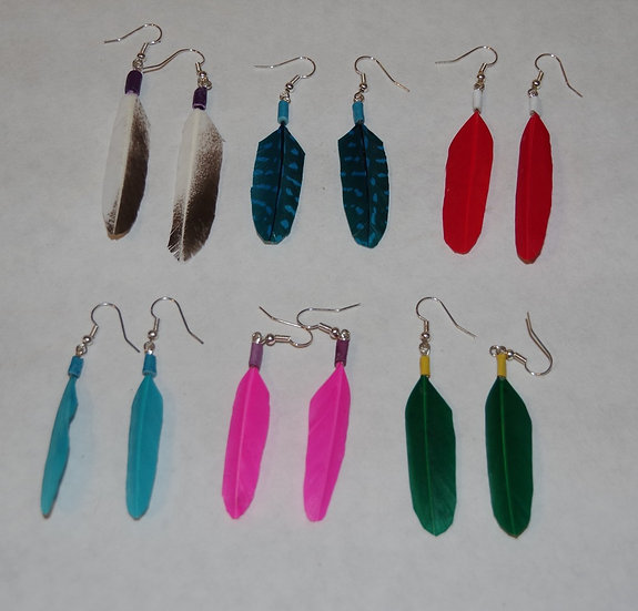 Earrings - Feather