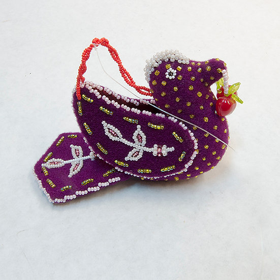 Purple Beaded Bird (81:76)