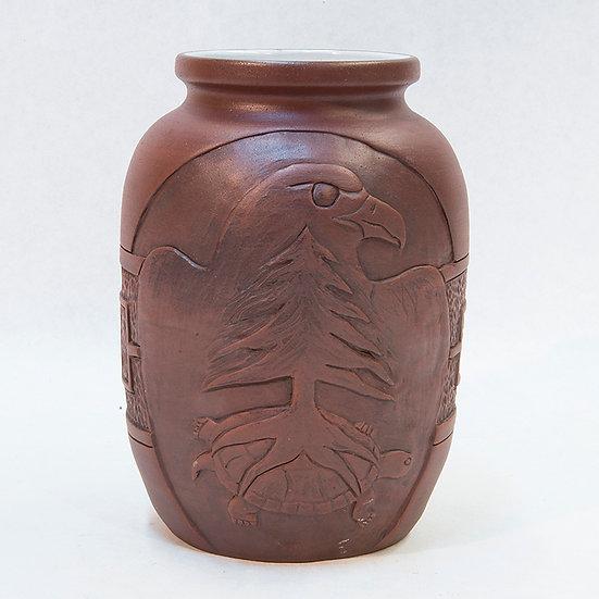Pot with Tree of Peace & Eagle Design (88:143)