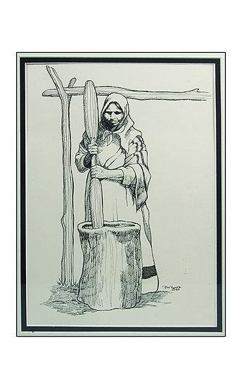 Woman Pounding Corn (84:14)