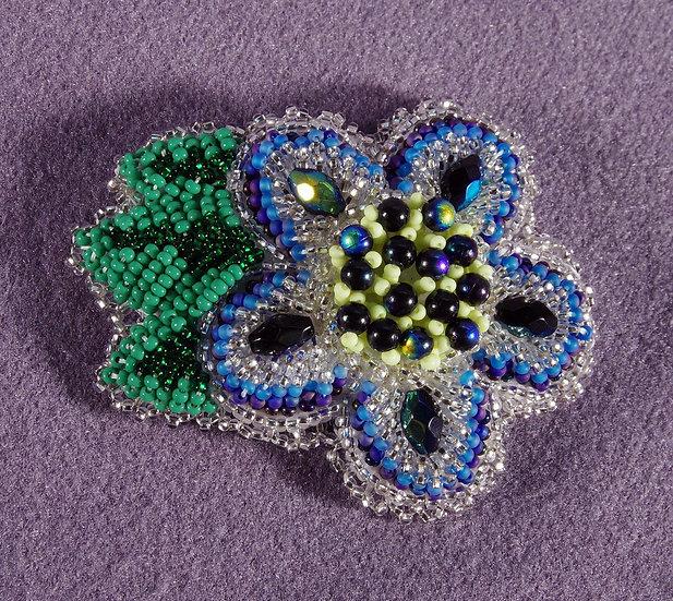 Barrette - Glass Bead