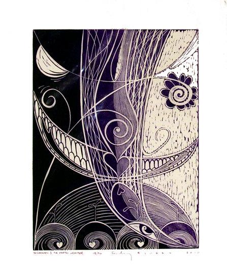 Hand Pulled Linoleum Print