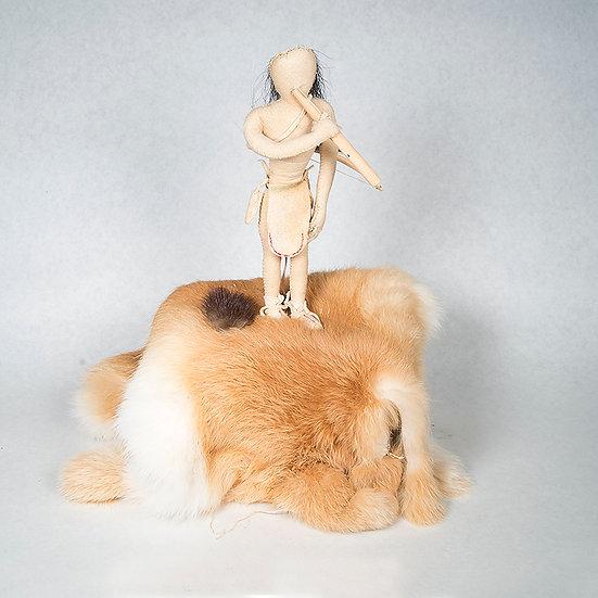 Doll w/ Blowgun & Beaver Fur (88:64)