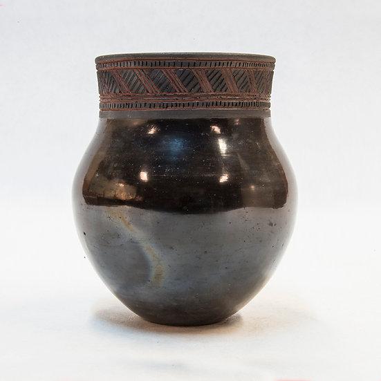 Glazed Pot with Geometric Design (87:78)