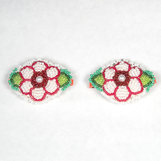 Pair of Beaded Barrettes (90:49)