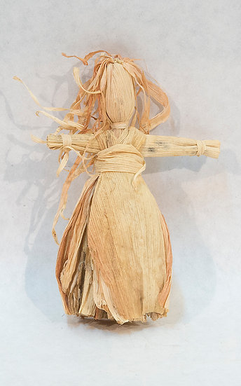 Cornhusk Doll with Long Hair (90:90)