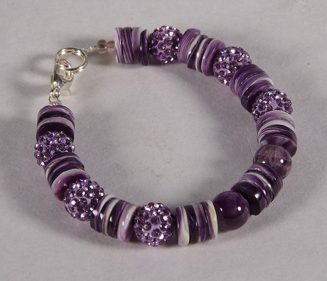 Bracelet - Wampum Shell and Glass Beads